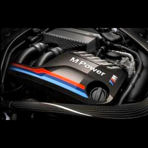 BMW MPOWER carbon fiber engine cover